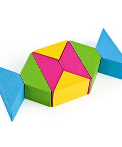 Цветные треугольники 16 дет (Томь-Сервис)