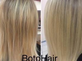 ботокс волос, кератиновое выпрямление