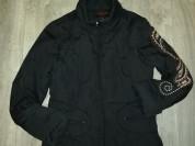 Куртка весна-осень, цвет чёрный, мало бу в хорошем