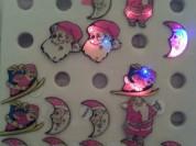 Новые магнитные новогодние значки-мигалки