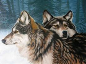 Картины по номерам GX 9485 Два волка