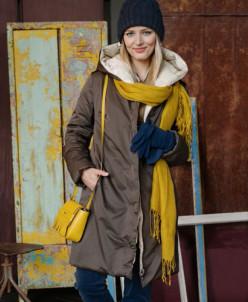 Пальто женское двустороннее LA-D01256