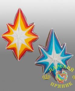 128-2 Пряник Рождественская звезда 120 мм (дизайн 2)