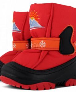 Детские дутики, сноубутсы - SUN RISE (красный)