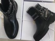 Ботинки новые Lestrosa размер 39 кожа чёрные на платформе Италия