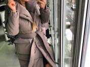 новое коричневое пальто теплое