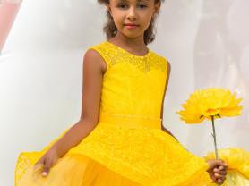 нарядные пышные платья в пол для девочек