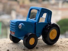 Синий трактор Гоша. Игрушка из дерева.