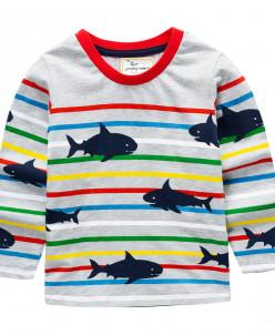 Лонгслив детский Акулы