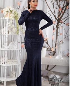 Гипюровое платье в пол - 11113