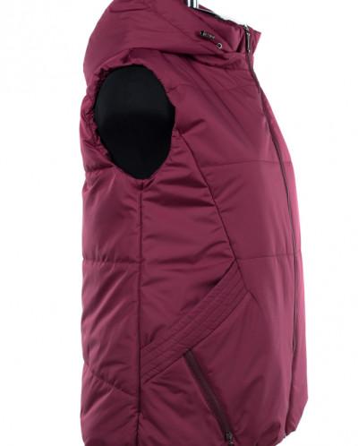 04-1953 Куртка демисезонная (синтепон 150) Плащевка Бордо