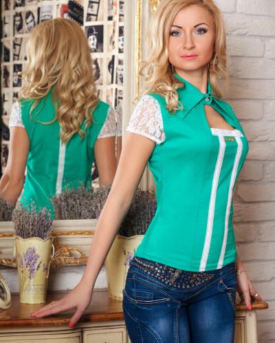 Рубашка № 342-мятный