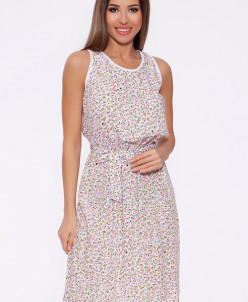 67922 Платье (Неженка)Белый/мульти цветы