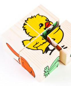 Кубики Томик «Сложи рисунок: животные»