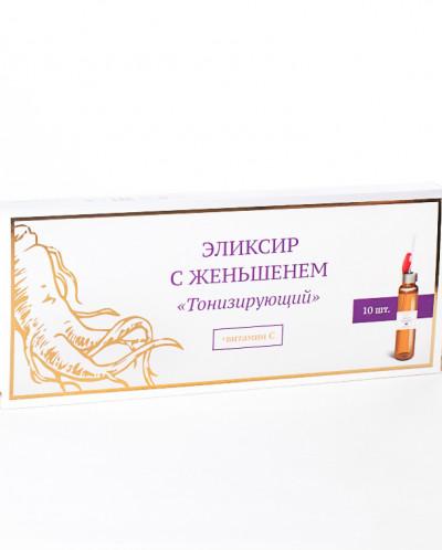 """Эликсир """"Тонизирующий"""" с женьшенем и витамином С(п-во Алтай)"""
