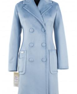Пальто женское демисезонное Неопрен Голубой