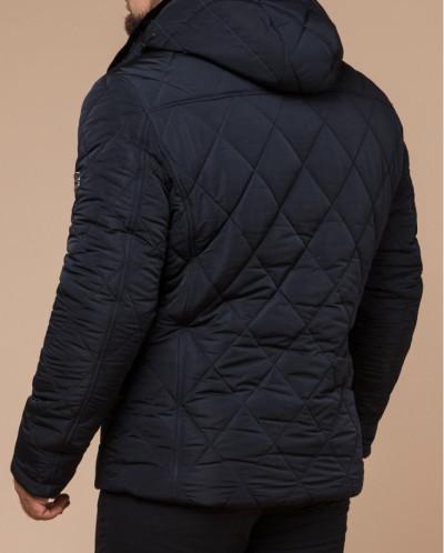Темно-синяя куртка стеганая практичная модель 19121
