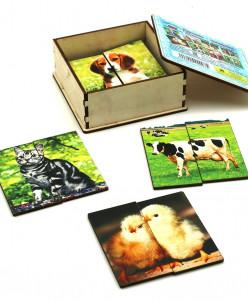 Картинки-половинки Домашние животные