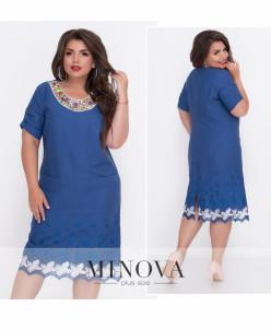 Платье №307-Джинс