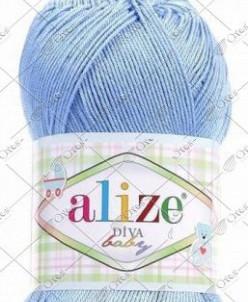 "Пряжа ALIZE ""DIVA BABY"" (100 г) 112 (голубой)"
