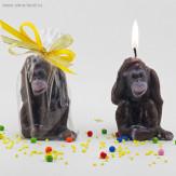 """Свеча символ года 2016 """"Шимпанзе"""""""