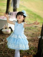 В наличии! Кружевное голубое платье.