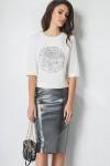 свитшот, юбка LaVeLa Артикул: L2278 молочный/серый