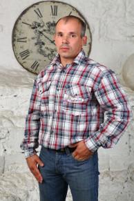 Рубашка шотландка, рукав длинный (модель: М-20)