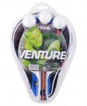 Набор для настольного тенниса Venture, ракетка, 3 мяча и чех