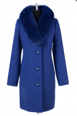 02-1531 Пальто женское утепленное Кашемир Лагуна