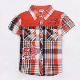 Летняя хлопковая рубашка с коротким рукавом 92