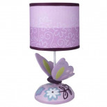 Lambs & Ivy Lamp with Shade and Bulb, Butterfly Lane