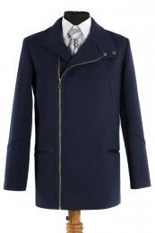 06-0052 Пальто мужское демисезонное (Рост 176) Кашемир Navy