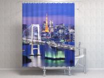Фотоштора для ванной Бруклинский мост 2