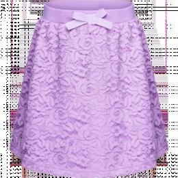 Юбка из кружева для девочки, цвет лиловый. Размер 98-116