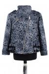 10-0241 Пальто детское демисезонное Кашемир/Флок Серый