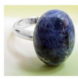 Кольцо серебро, содалит р. 17