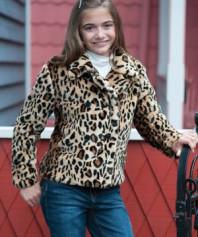 Леопардовое на осень: шубка 116/122+легенсы+угги+
