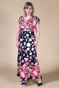 Платье Афродита - цветы коралл