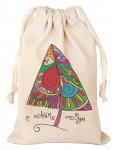 Мешочек подарочный с рисунком «Новогодняя елка»