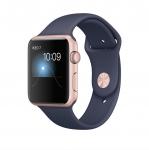 Apple Watch Ser2 42mm Aluminum Case with Sport Rosr Midnight