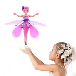 Летающая фея Flying Fairy с подсветкой и музыкой, розовая
