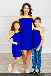 """Комплект Family Look для мамы, дочки и сына """"Спорт"""""""