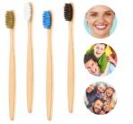 Зубная щетка бамбуковая плоская