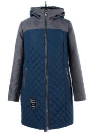 04-1689 Куртка демисезонная (Синтепон 150) Плащевка Индиго