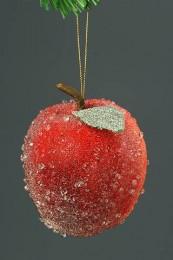 Яблоко засахаренное красное, 9см