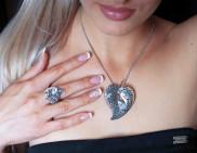 Кольцо из серебра Роса Юмила