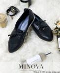 Туфли №1001-Черная Кожа-Замш