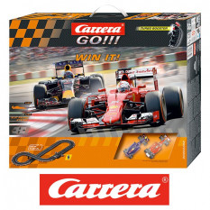 Автотрек Carrera go Win It! с 2 машинками, 1:43