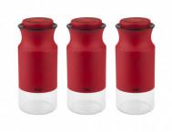 Набор банок для сыпучих продуктов TAC M, 3 шт., серебряный